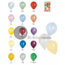lot 100 latex  balloons 40cm METALLIC mix