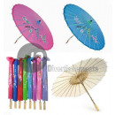 wholesale Costume Fashion: umbrella fabric  diameter 82cm fuchsia