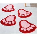 wholesale Bath & Towelling: Set of 2 footmats Badematte in Fussform