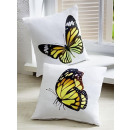 Großhandel Kissen & Decken: Kissenhülle ca.  40x40 cm Motiv Schmetterling