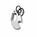 Key ring with carabiner hook and bottles