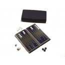 wholesale Parlor Games: Backgammon travel  game with magnetic metal design