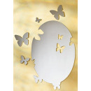 wholesale Jewelry & Watches: Mirror film 5tlg. Set butterfly