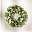 Deco wreath daisies wreath flower wreath flowers