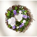 Deco wreath roses door wreath flower wreath flower