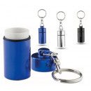 Pill Box Keychain with container ideal for