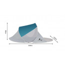 wholesale Miscellaneous Bags: Beach tent 220x120x90cm - turquoise - gray