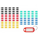 Key Tags 100 Pieces Colorful Writable Metal ...