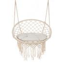 hurtownia Zabawki ogrodowe: Huśtawka bocianie gniazdo beżowa 2m z poduszką