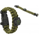 groothandel Sport- & fitnessapparaten: Paracord Armband Army Green 5in1 Tool Survival Out