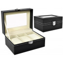 wholesale Jewelry & Watches: Box Case Organizer for 3 Watches Casket # 8513