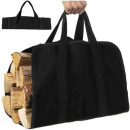 Firewood Bag Wood with Handle Carrier Tote Bag Acc