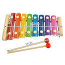 Colourful glockenspiel for kids – wooden + 2 malle