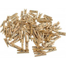 wholesale Printers & Accessories: Mini wooden clips paper clips 100pcs. Clips images