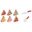 Wooden Pizza Toy for Kids Food Set 27 pcs Slices C
