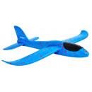 Samolot styropianowy niebieski
