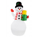Snowman inflatable LED illuminated 155 cm outside