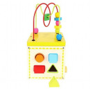 wholesale Toys: Sorter Wooden Educational Cubes with a 5in1 Clock