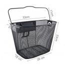 wholesale Organisers & Storage: METAL BASKET FOR BIKE • max. 6 kg • 33 x 25 x 23 c