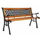 Garden bench park bench garden furniture steel fra