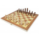 WOODEN CHESS • 34 x 34 cm • cassette lockable on t