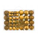 Großhandel Dekoration: Weihnachtskugeln setzen 100 Stück + goldenen Stern