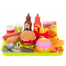 Fast food set kitchen toy set with tablet children