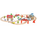 Wooden Train Car Set Building Kit Train Track Set