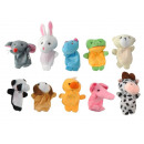 Finger Puppets Set Animals 10 Pieces Colorful Soft