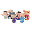 Finger Puppets Set Family 6 Pcs Colorful Soft Fabr