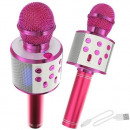 Karaoke microphone with pink speaker