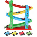 wholesale Car accessories: Wooden Big Ramp Racer 4 wooden Cars Car Toys for T