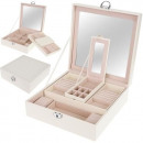 wholesale Accessories & Spare Parts: Casket Jewelry Organizer Watches Box L White 8895