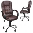 Swivel Office Chair Tilt Office Chair Chrome Brown