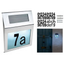 wholesale Decoration: Solar Powered House Number Plate Illuminated Backl