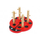 wholesale Wooden Toys: Wood Form Sorter Puzzle Stackable Puzzle Ladybird