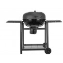 Kettle grill garden grill with lid storage grid an