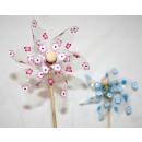 wholesale Garden & DIY store: PVC windmill Ø 8cm flower pattern