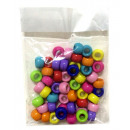 grossiste En perle et Charme: set de 50 perles  loom beads  coloris assortis