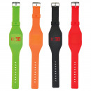 Touch LED watch silicone square