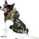 dog coat with hood size camouflage