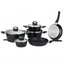 Herzberg HG-8079: Forged cookware set of 10
