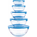 wholesale Drinking Glasses: Herzberg HG-5007: Glass Bowl Set 10 Pieces
