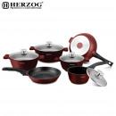 Herzog HR-ST16M: Die-cast cookware set