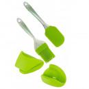 grossiste Mallettes, boites à outils et kits: Euro Lady EL-4KHS: Outils de Cuisson 4 Pièces Vert