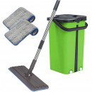 wholesale Cleaning: Cenocco CC-9077: Flat Mop With Green Bucket
