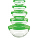 wholesale Drinking Glasses: Herzberg HG-5007; Set of glass bowls transp