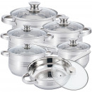wholesale Kitchen Utensils: Herzberg HG-1241: 12-Piece Cookware Set