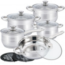 Herzberg HG-1242: 12-Piece Cookware Set
