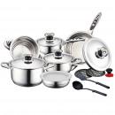 Herzberg HG-16SS: 16-piece cookware set